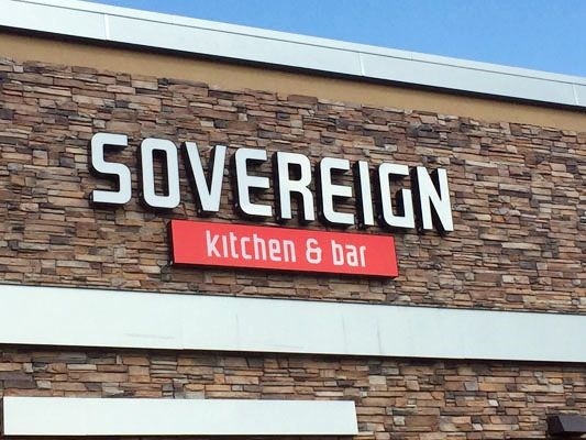 Lit Channel Letters for Sovereign Kitchen and Bar in Woodbury, MN