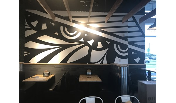 Vinyl Wall Graphic for Aloha Poke casual dining in Woodbury, MN