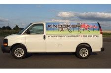 Window perf and vinyl vehicle wrap for Knockerball, Eagan MN